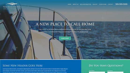 Waubesa Website Screenshot